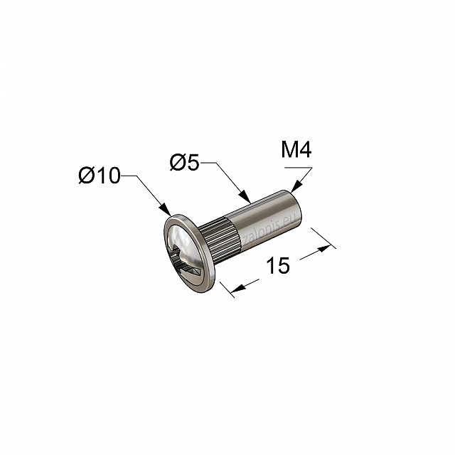 CONNECTOR JOINT, FEMALE SCREW M4 D.5x15mm